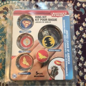 Justice league ring set